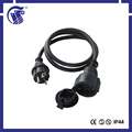 IP44 IEC female connector CEE male connector flat extension cord
