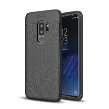 Soft TPU Leather silicone protective S9 cover shell for Samsung galaxy s9 plus cases