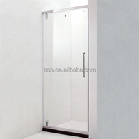 high standard 6mm Sand-Blasting Glass privacy shower room partition
