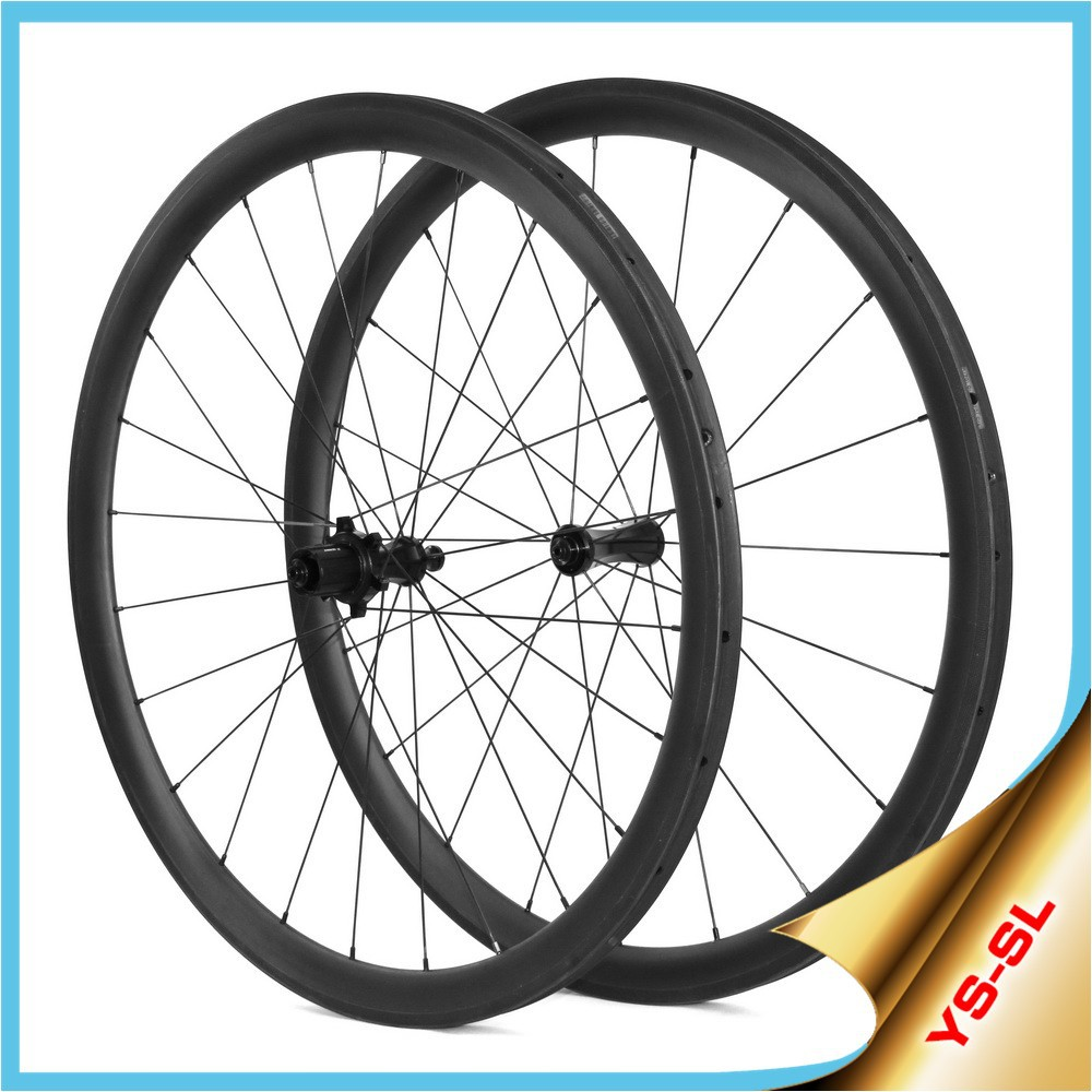 cheap bike wheels 700c 16-24 hole lightweight Straight Pull 38mm carbon wheels tubular chinese bike wheels SL38T