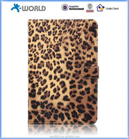 Leopard Leather Skin Pattern Print Flip Wallet Case For iPad mini 4