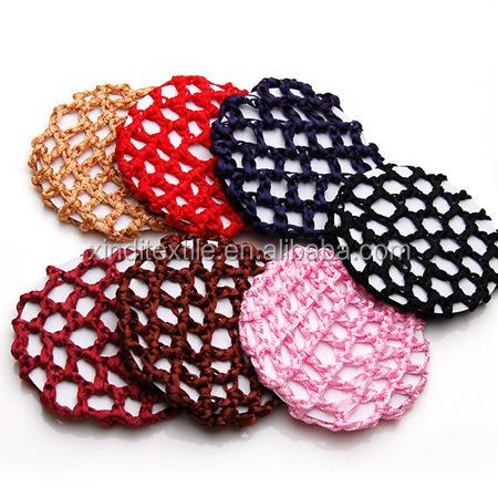 Crochet Hair Barrettes : Crochet Snood Net Hair Accessories - Buy Nylon Mesh Bun Cover Snood ...