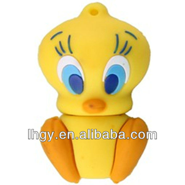 2013 new style Duck cartoon shape memory flash disk 2gb(LH-466)