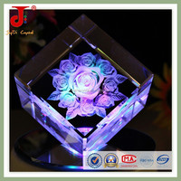 Small crystal engraving Christmas gifts with lamp holder for crystal Christmas gifts