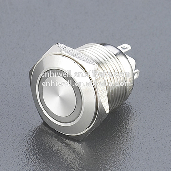 JS16F-10E anti-vandal switch 304 stainless steel switch metal pushbutton switch