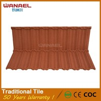 Wanael new design Anti-Uv metal wave synthetic spanish color steel roof tile sheet metal price