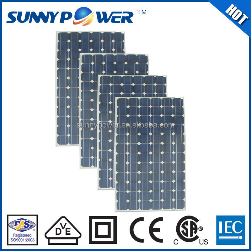 Most efficient 265w monocrystalline solar panel