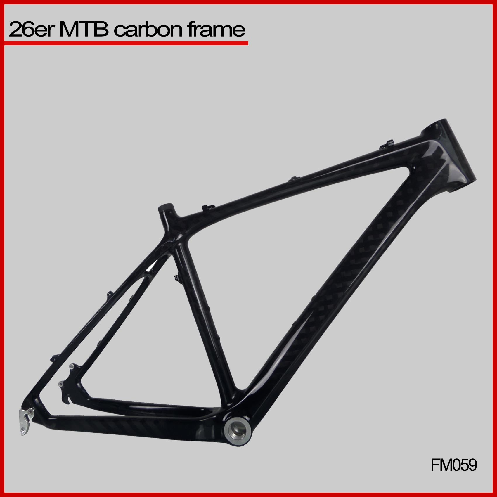 china mountain bike carbon frame carbon mtb bike frame 26er mtb frame FM059