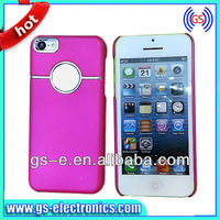Wholesale hot Luxury Brushed Aluminum Chrome Hard PC Cover candy color Case for iphone 5C