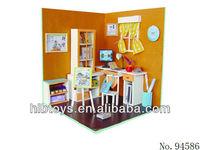 DIY 3D doll house log cabin,simulation house toys