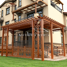 Recycled backyard outside hollow decking aluminum balcony pergola