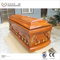 european style wooden coffin toy