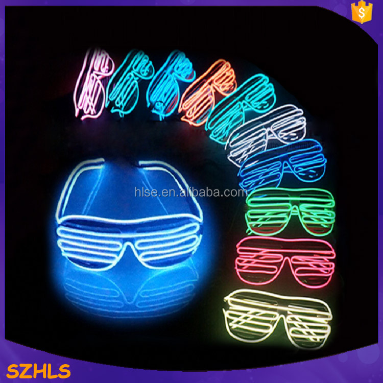 Colorful lighting el wire glasses