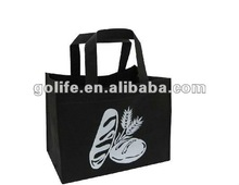 2012 high quality Non-woven Tote Bags,Black non woven tote bags,Supermarket Shopping Bags