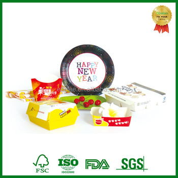 disposable custom disposable paper food package
