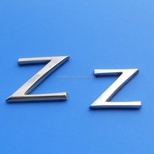 metal letters for car emblem, Z letter custom metal adhesive car badge