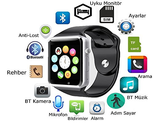Hot seller Bluetooth Waterproof Smart Wrist Watch A1 GSM Phone For Android Samsung iPhone Fashion/Smart watch