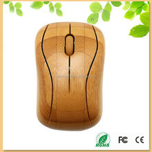 promotion business gift anti-static healthy bamboo wireless computer mouse