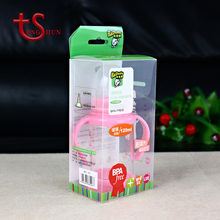 Eco - friendly Hanging waterproof Baby Milk Bottle Clear Packaging With UV Printing Box