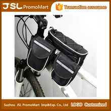 Bike Cycling Bicycle Front Top Tube Frame Pannier Three Bag Pouch for Cellphone