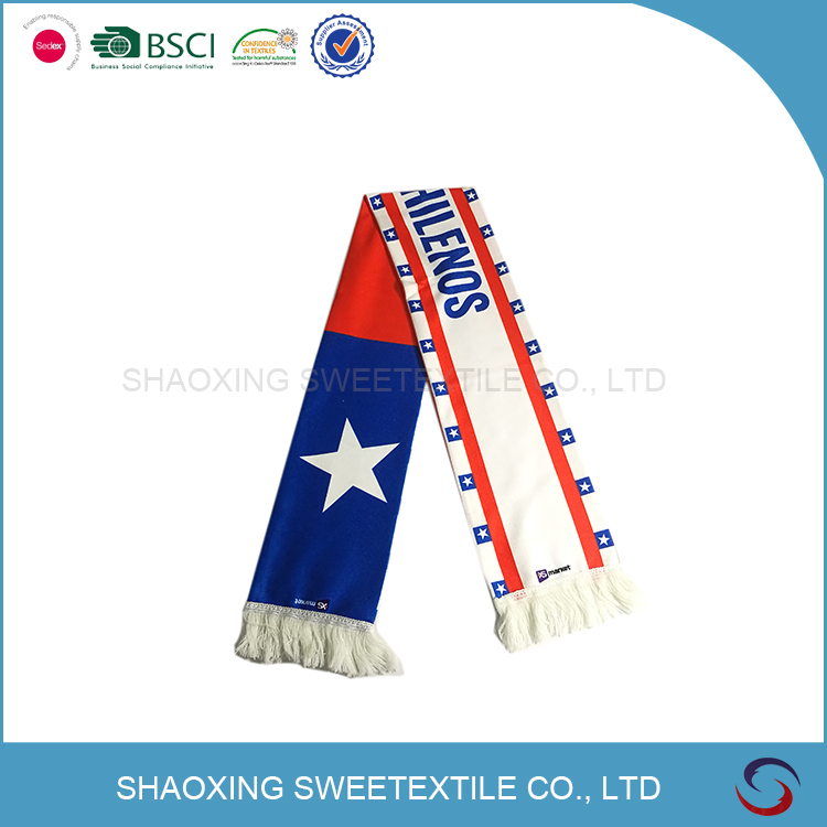 OEM Embroidery Practical Quality-Assured Fan Scarf