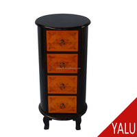 Classical wood cabinet antique wood nightstand with drawers bedroom furniture H-16040