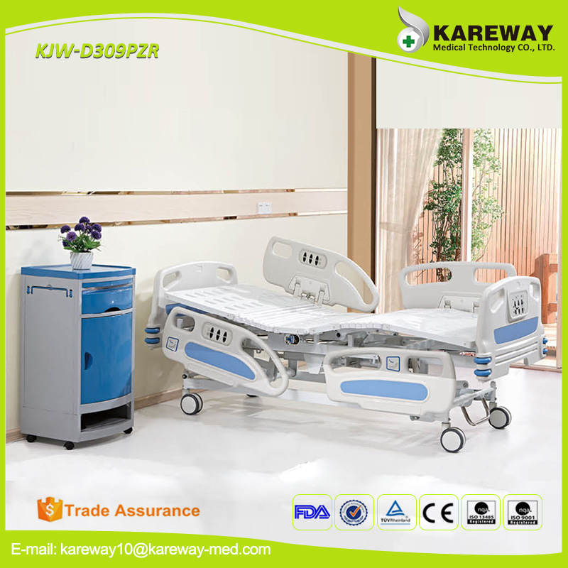 Medical adjustable cheap hydraulic three function electric hospital bed