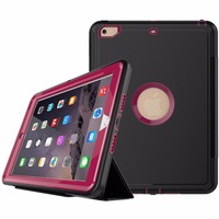 Full Body Rugged Protective Case with Built-in Screen Protector & Dual Layer Design Case for New Apple iPad 9.7 inch 2017