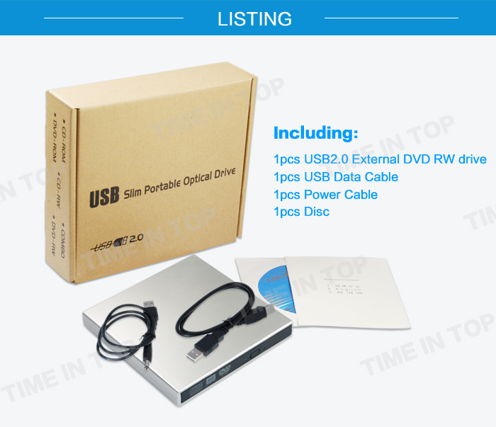 USB2.0 External DVD Writer for Mini PC
