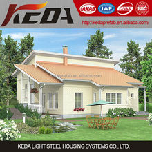 China Low Cost Prefabricated House Light Steel Structural Frame Modular Home