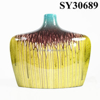 Home decorative yellow large cheap ceramic flower vase