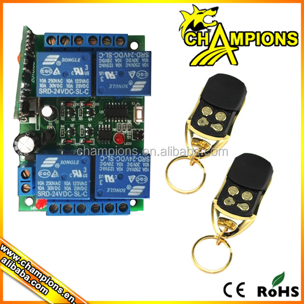 10A relay 12V 4 way 100M wireless remote control switch Receiver board + remote AG-C400