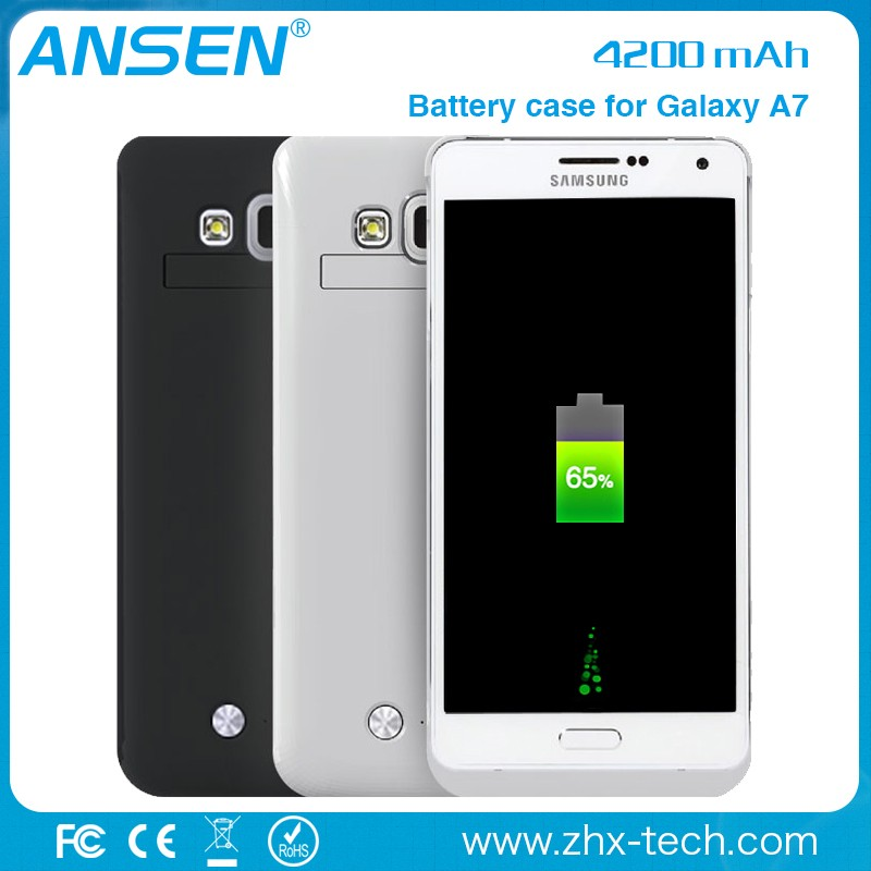New Arrival portable slim rechargeable extended battery case for samsung s4 mini for Samsung Galaxy A7