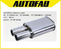 AUTOFAB-car auto stainless steel performance universal muffler AF-MF1623
