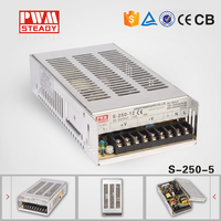S-250W CE Certificate SMPS single output 250W 24v 10a led driver/constant voltage