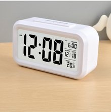 Fashionable electric temperature display automatic calendar clock
