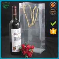 New Transparent Pvc Wine Handle Bag Spout Pouch Wholesale