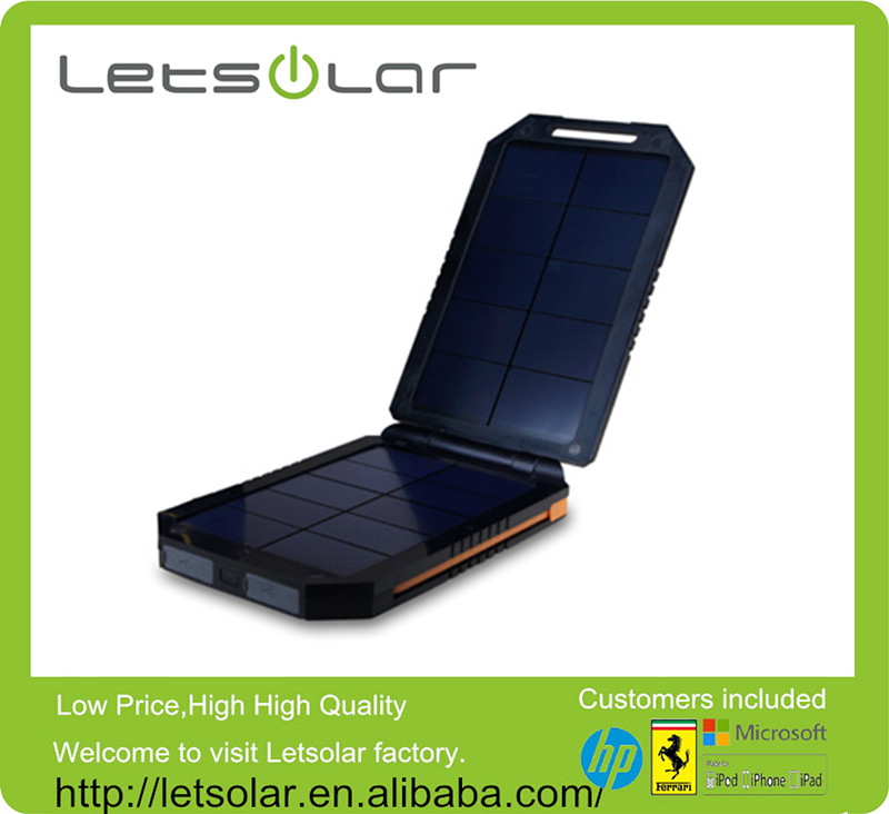 6000mAh solar sun charger mobile portable solar charger battery bank with built in usb cables power bank for Xiaomi