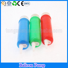 Manual small long shape balloon air pump inflator promotional