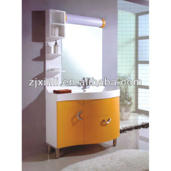 X6628 High Quality Bathroom Solid Wood Cabinet with Ceramic Bowl