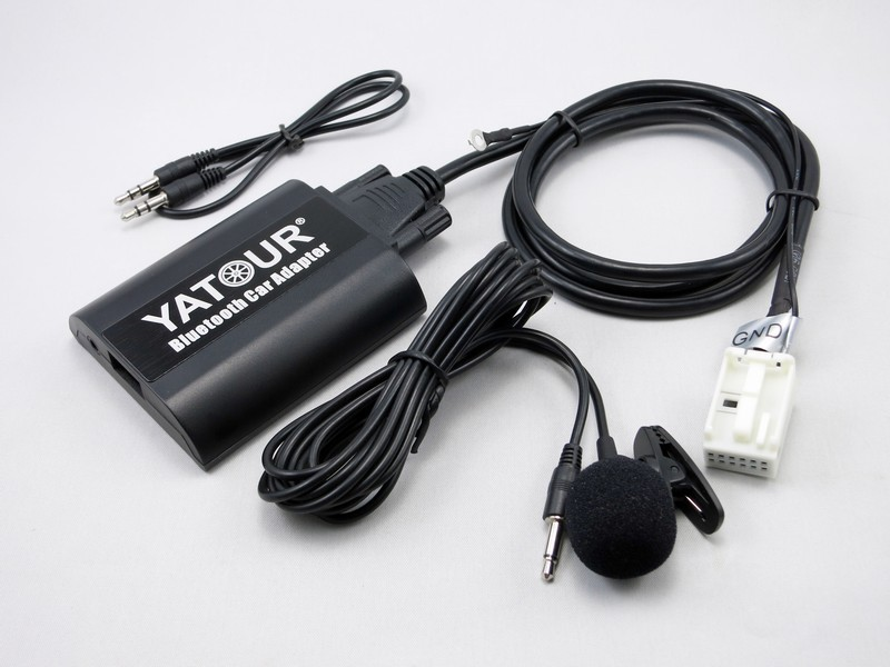 yatour bluetooth car aux adapter for 12pin vw audi skoda. Black Bedroom Furniture Sets. Home Design Ideas