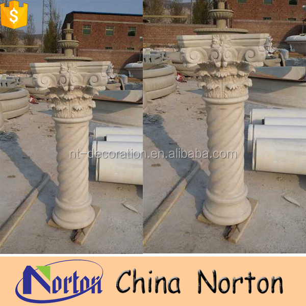 marble decorative pedestal columns for indoor NTMF-C208S