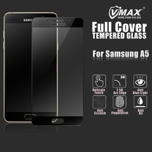 In stock ! full cover 2.5d 9H anti fingerprint cell phone tempered glass screen protector for Samsung galaxy A5