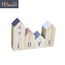 Wholesale letter pattern hand made craft,wood handicraft