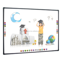 Aluminum frames Touch screen smart board, High precision four user optical interactive whiteboard with good user experience