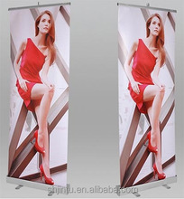 Promotional roll up banner, aluminum roll up stand, retractable banner stand