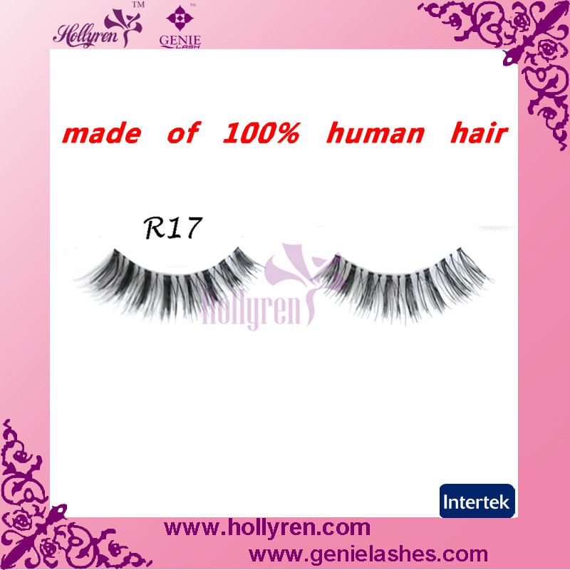 Wholesale Hand-tied Beautiful Black Human Hair False Eyelashes Stock Price