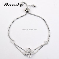 Wholesale Lucky Four Leaf Clover Bracelet Jewelry With AAA Zircon