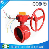 cast iron tamper switch grooved butterfly valve