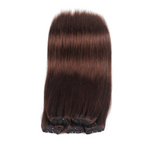 shedding free Tangle Free Triple Weft silky straight 100% Remy Clip In Human Hair Extensions